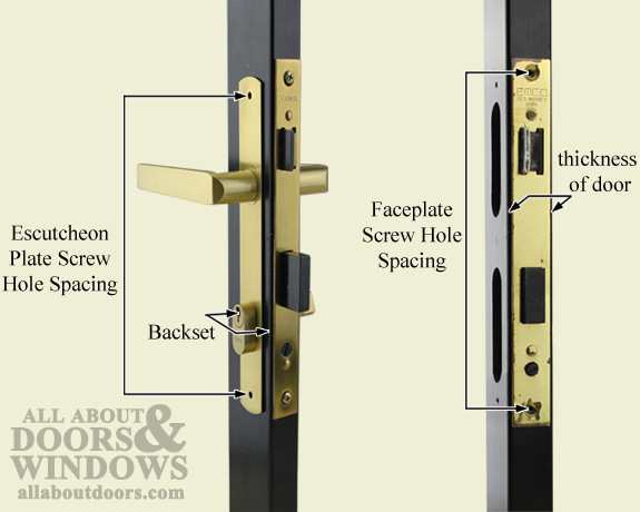 Delicieux Measurements Security Door Mortise Lock