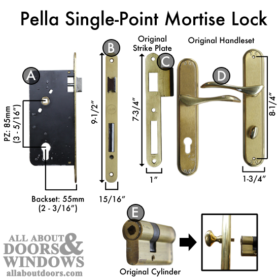 How To Replace A Pella Single Point Mortise Lock With Pz Of 85mm