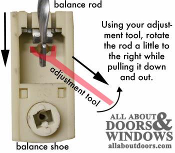 How To Adjust A Spiral Balance Rod