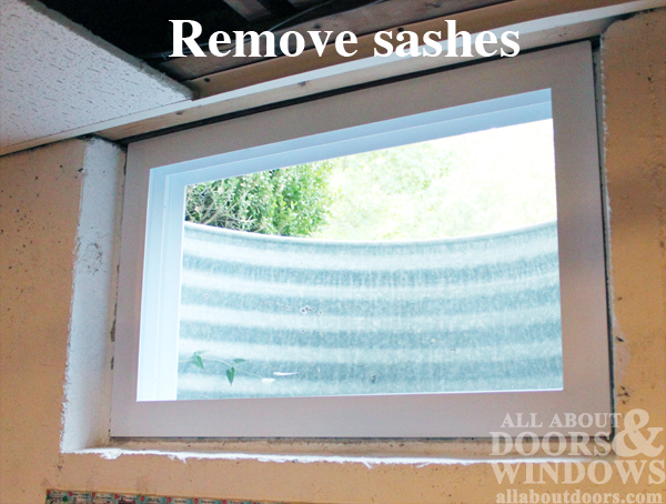 remove sashes