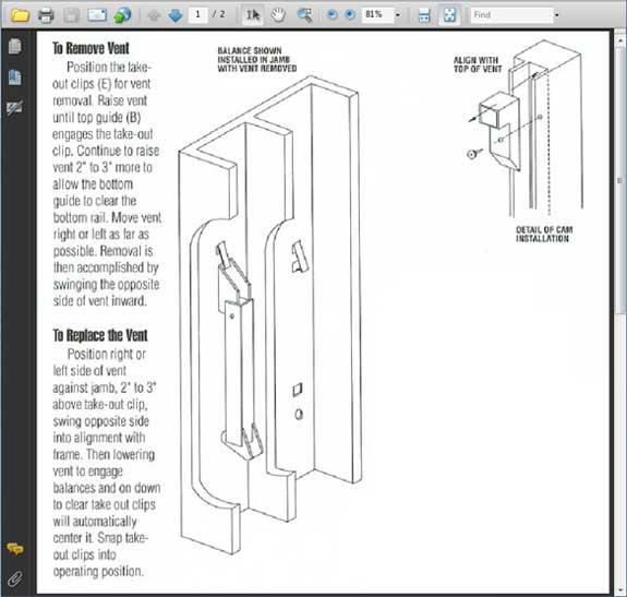 How To Remove A Sash In A Non Tilt Vinyl Or Aluminum Window