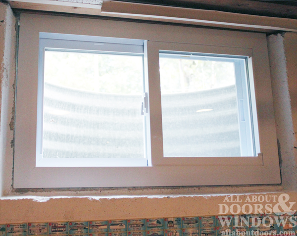 window in rough opening uncaulked