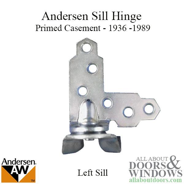 Andersen Window Primed Casement Sill, Basement Window Side Mount Hinges