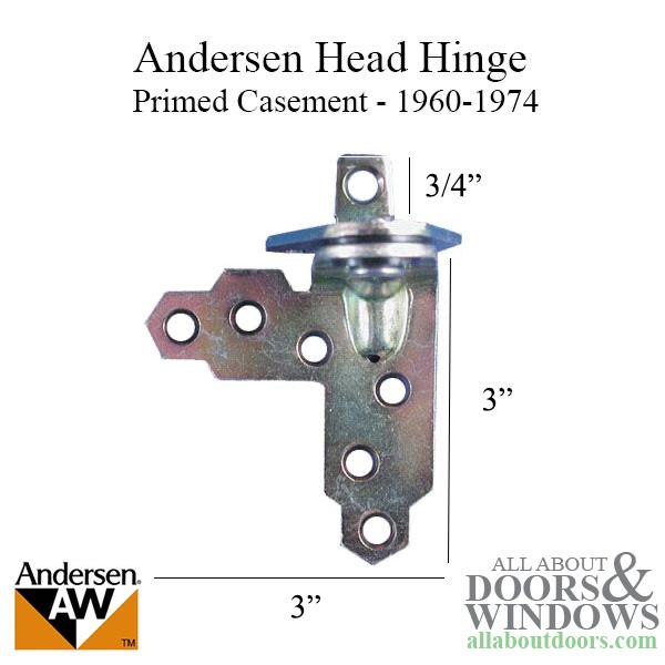 Andersen Window Primed Casement Head Hinge Head Right