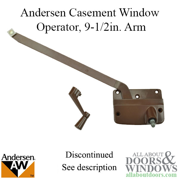 Discontinued Andersen Left Hand Operator And Handle With 9