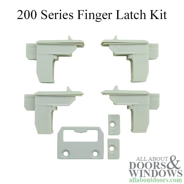 Andersen Tilt Fingerlatch 200 Series White