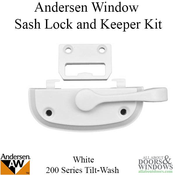 Andersen Sash Lock Kit 200 Series Tilt Wash Window In White
