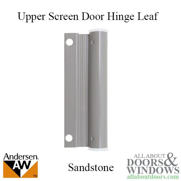 Hinge Leaf Screen Door Upper Forest Green