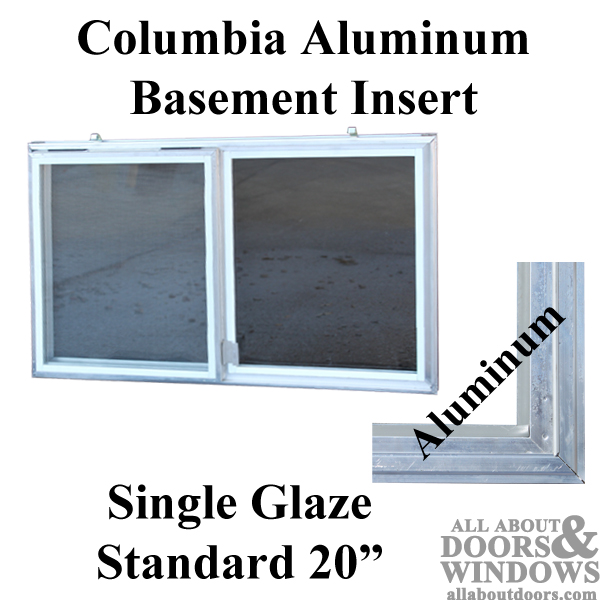 C 300 20 Aluminum Basement Window Insert Single Pane Glass