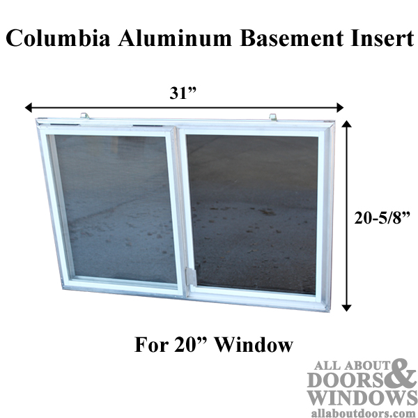 Anderson Patio Doors >> C-300-20 Aluminum Basement Window Insert, Single Pane Glass