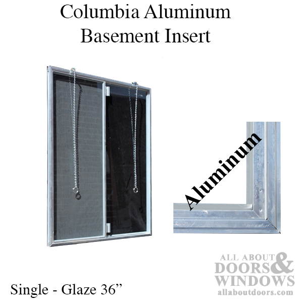 C 300 36 Aluminum Basement Window Insert Single Pane Glass