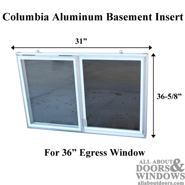 C 310 36 Aluminum Basement Window Insert Dual Pane Glass
