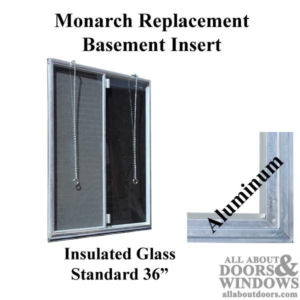 Monarch C 310a 36 Aluminum Basement, Monarch Basement Window Insert