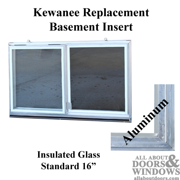 Aluminum Basement Window Insert Glass Window Insert