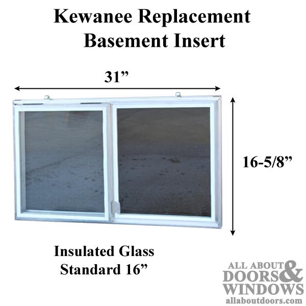 Aluminum Basement Window Insert Glass Window Insert