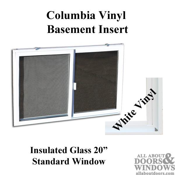 Vinyl Basement Window Replacement 31 X 20 Sliding Window