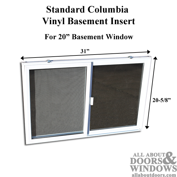 Vinyl Basement Window Replacement 31 X 20 Sliding Window