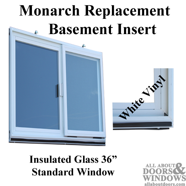 Vinyl Basement Replacement Window, Monarch Basement Window Insert