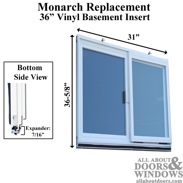 Vinyl Basement Replacement Window Insulated Basement Window