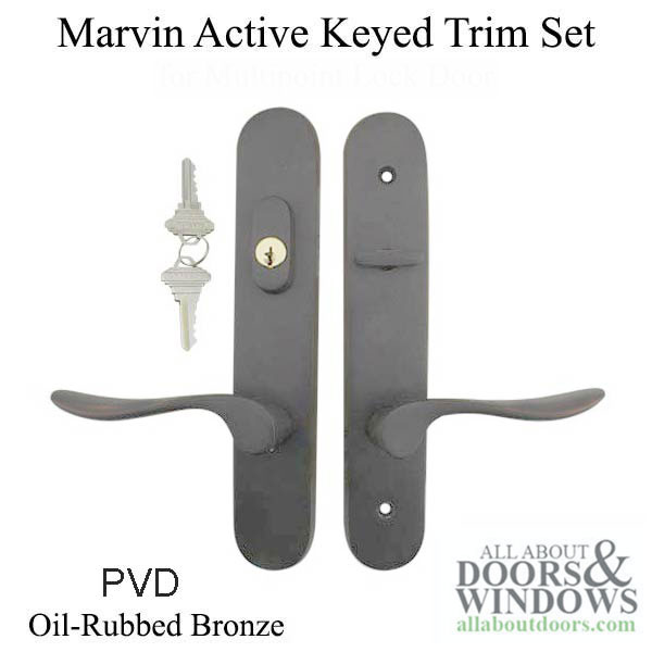 Marvin Active Keyed Multi Point Lock Trim For Hinged Door