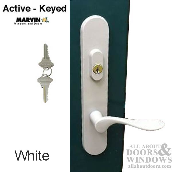 Marvin Active Keyed Trimset With Interior Thumbturn White