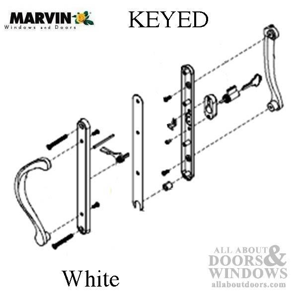 Marvin Active Keyed Narrow Sliding Door Handle Center