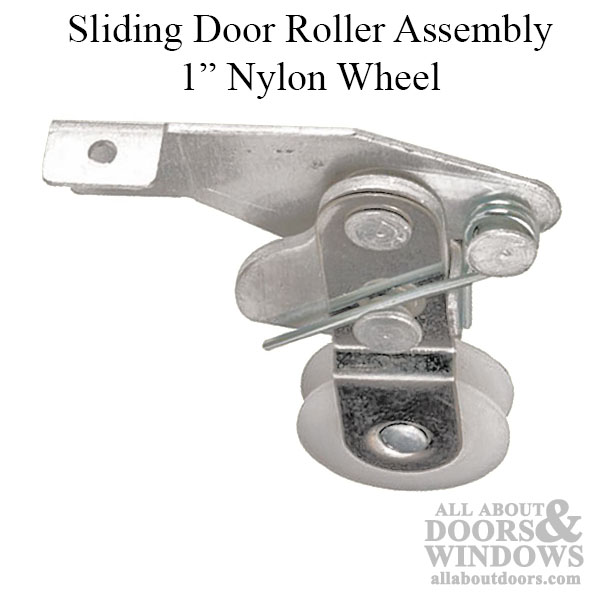 Roller Assembly With 1 Inch Nylon Wheel For Sliding Screen