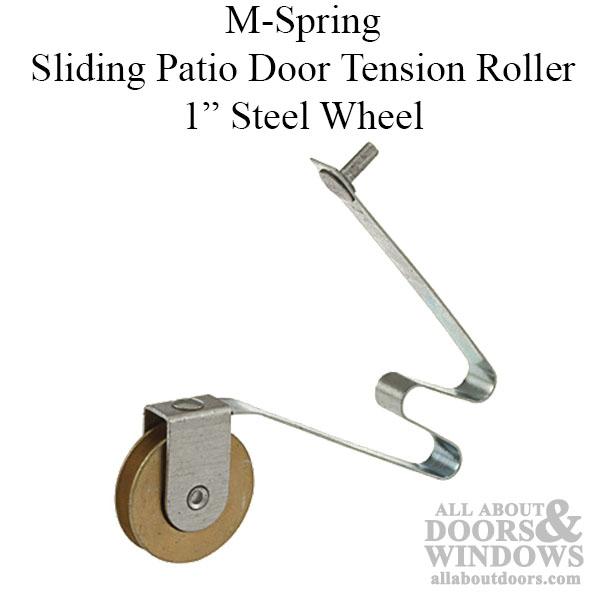 Steel Spring Tension Roller Assemblies Sliding Screen Door