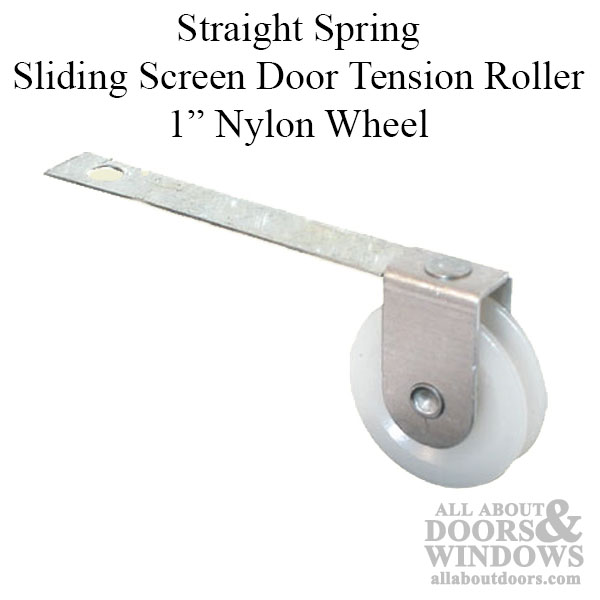 Straight Spring Tension Roller Assembly With 1 Inch Nylon