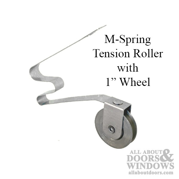 M Spring Tension Roller With 1 Inch Steel Wheel For