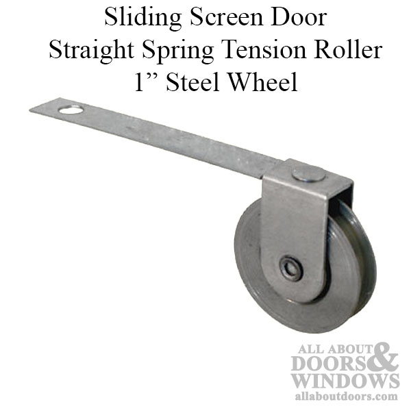 Straight Spring Tension Roller Assembly With 1 Inch Steel