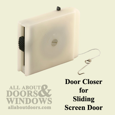 Plastic Door Closer For Sliding Screen Door Black