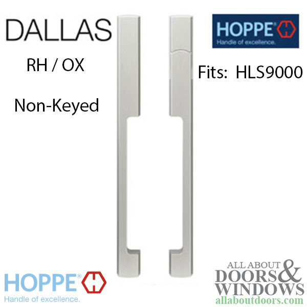 Dallas Non Keyed Sliding Door Handle Sets Hls9000 Gears