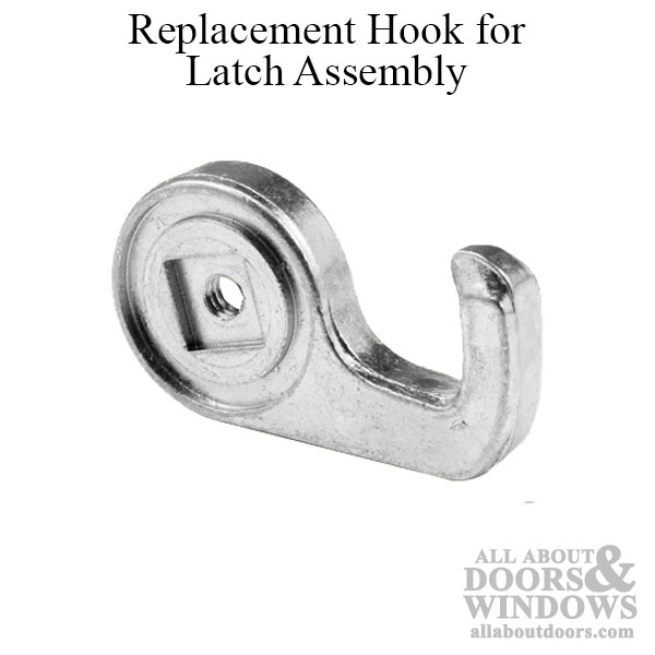 Long 15/16 Inch Replacement Hook for Sliding Screen Door Latch Assembly