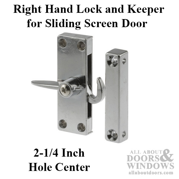 Right Hand Diecast Latch Amp Keeper For Sliding Screen Door