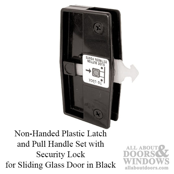 Non Handed Plastic Latch Amp Pull Handle Set With Security