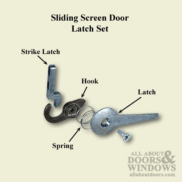 Replacement Strike Latch for Sliding Screen Door Latch Set - DISCONTINUED