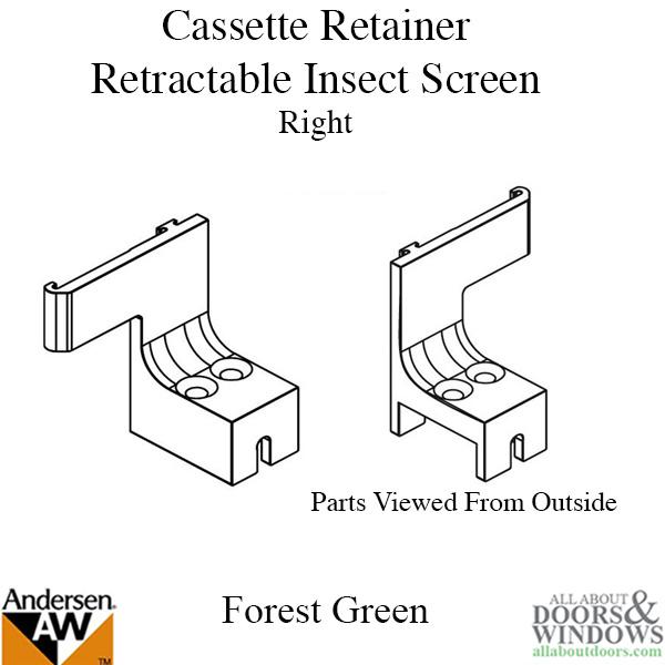 Andersen Sliding Screen Door Hardware and Parts