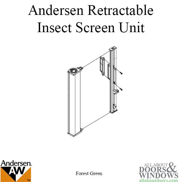 Retainer W Screws Retractable Insect Screen For Andersen
