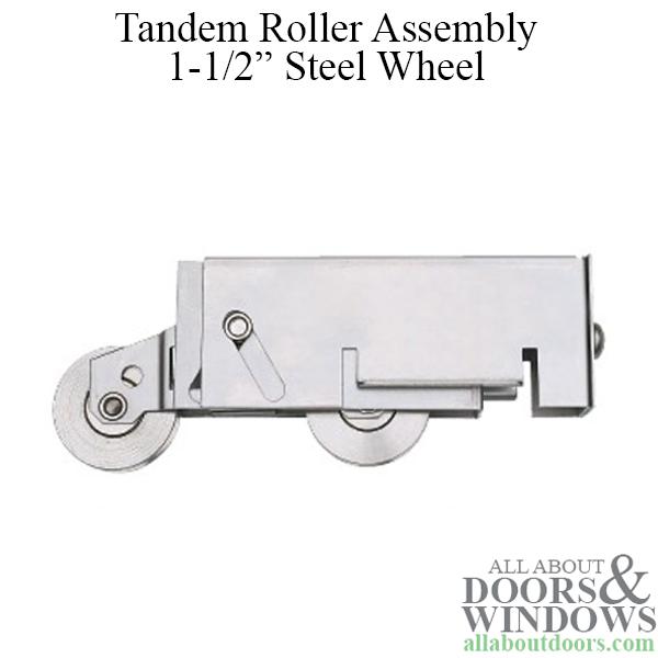 Tandem Roller Assembly Sliding Patio Door Steel Ball Bearing