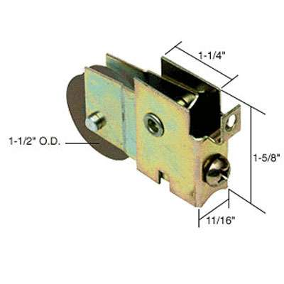 1-1//2-Inch Steel Ball Bearing Prime-Line Products D 1772 Sliding Door Roller Assembly