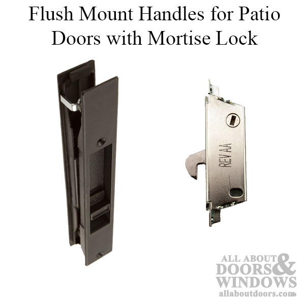 Flush Mount Sliding Glass Door Handles Glass Patio Door