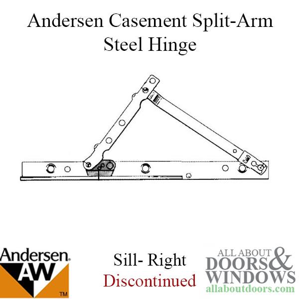 Hinge Psc Split Arm 1983 1995 Stainless Steel Track