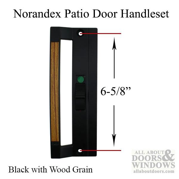 Norandex Sliding Patio Door Handle 6 5 8 Screw Holes Black