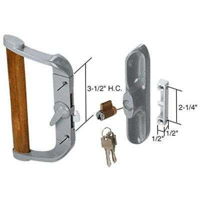 Handle Set 3 1 2 Hole Center W Key Lock