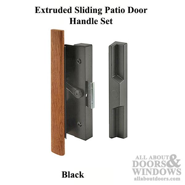 Handle Set Sliding Patio Door Extruded Aluminum Wood