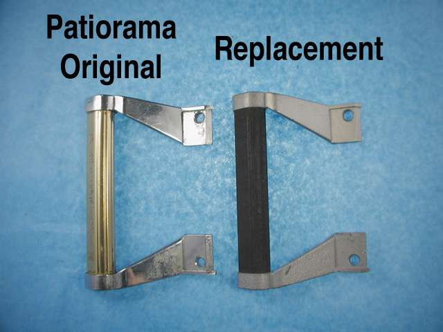 Daryl Patiorama Gold Handle Brackets Pairs Silver Painted