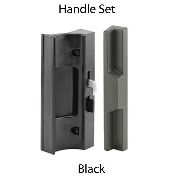 Handle Set Sliding Patio Door Plastic Black