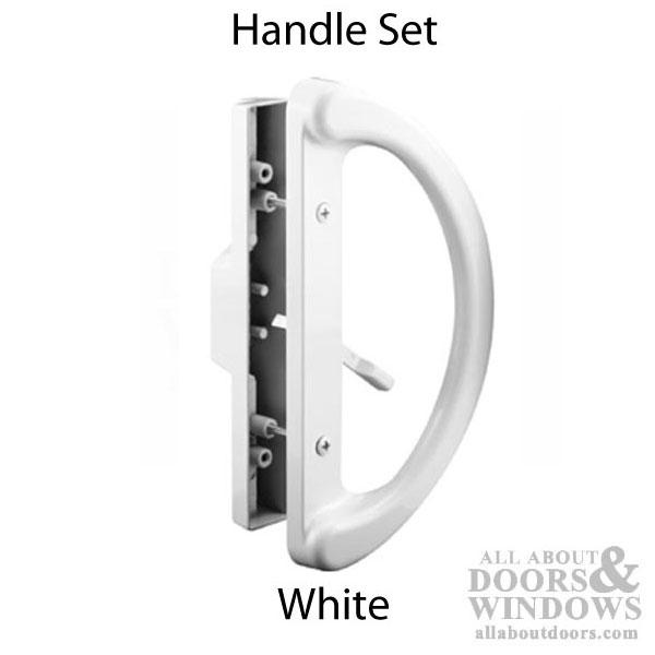 Handle Set Sliding Patio Door Heavy Duty White