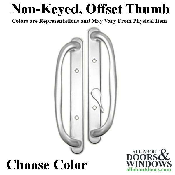 Olympus Handle Offset Thumb Sliding Glass Door Colors